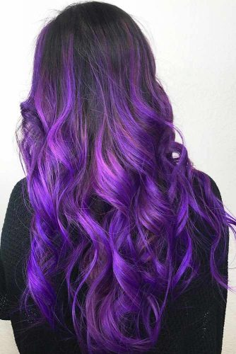 Electric Purple Ombre #brunette #purplehair #ombre