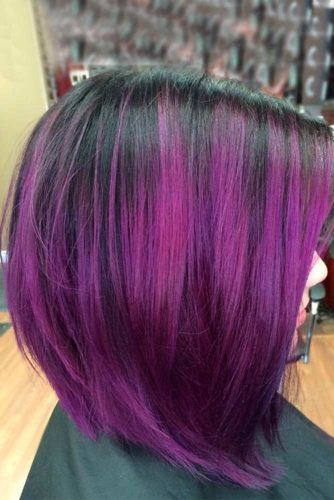 Black to Purple Bob picture2