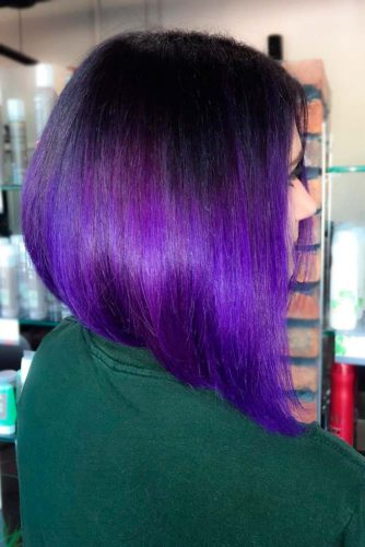 Black to Purple Bob picture1