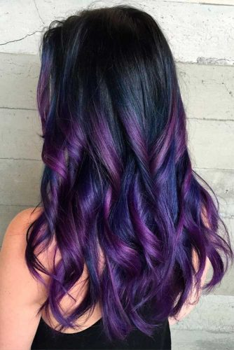 Cool Black to Purple Ombre picture3