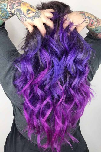 Purple With Red-Violet #brunette #purplehair