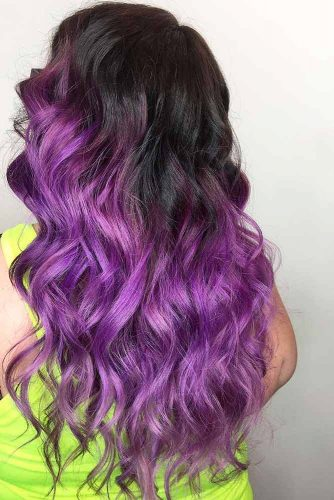 Amazing Purple Ombre Hair Color picture3
