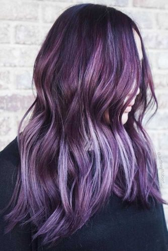 Smokey Plum With Babylights #brunette #purplehair