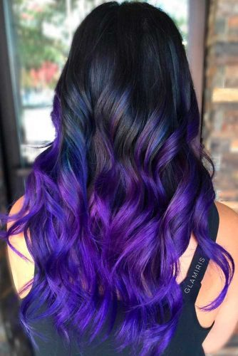 Cool Black to Purple Ombre picture2