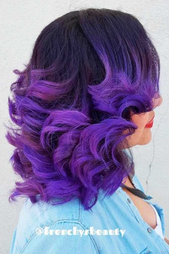 Cool Black to Purple Ombre picture1