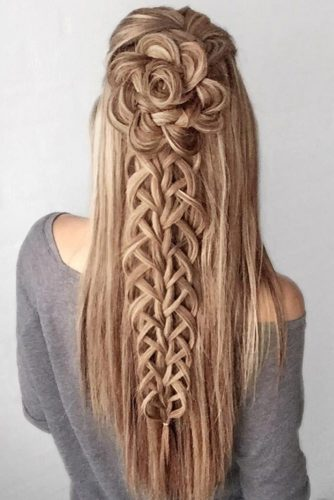 Prom And Homecoming Amazing Half-Up Hairstyles With Braids #braids #halfup
