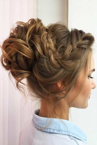 French Braided Crown To Change Your Everyday Style #braids #updo