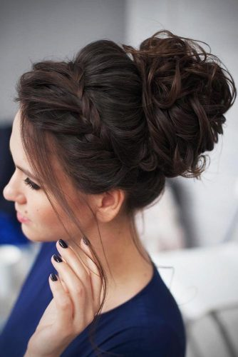 Braided Crown Bun To Change Your Everyday Style #braids #updo