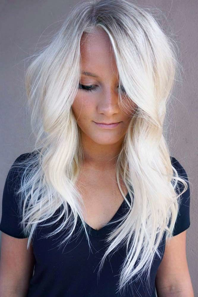 Asymmetrical Long Haircuts Blonde #longhaircuts