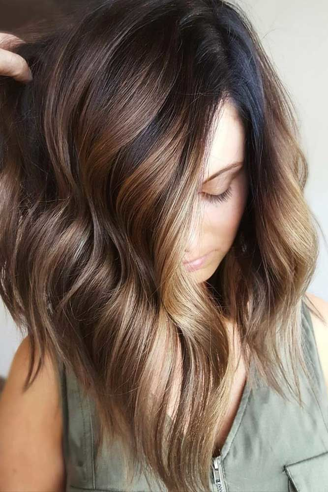 Asymmetrical Long Haircuts Balayage #longhaircuts