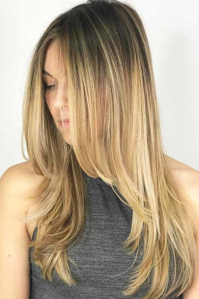 Straight Long Hair Ombre #longhaircuts