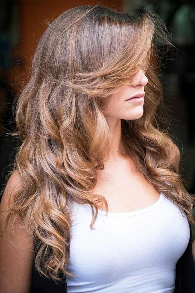 Layered Long Hair Haircuts Bangs #longhair