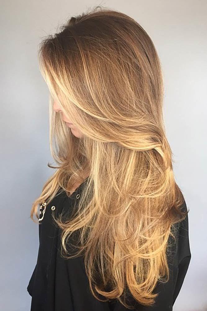 Straight Long Hair Waves #longhaircuts