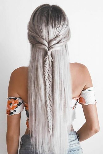 Half Up Braids for Long Hair picture2
