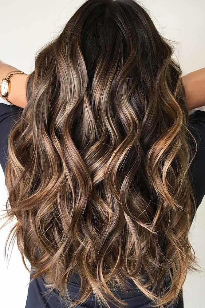 Layered Long Hair Haircuts Highlights #longhair