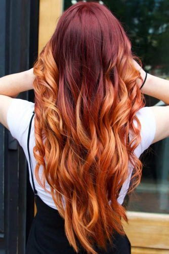 Orange Ombre Hair Red Amber #ombre