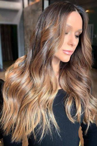 Caramel Blonde Brown #ombre