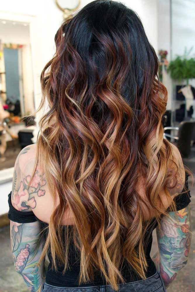 Trendy Brown Ombre Variations Red #ombre