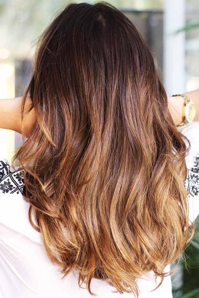 Sombre Ideas Caramel Brown #brunette #ombre