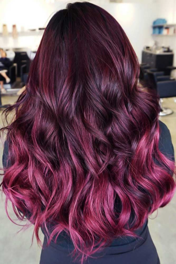 Colorful Ombre Ideas Burgundy #ombre