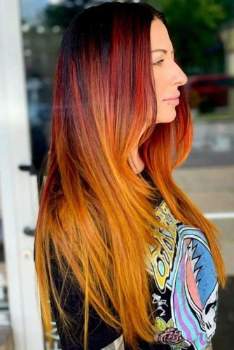 Orange Ombre Hair Red #ombre
