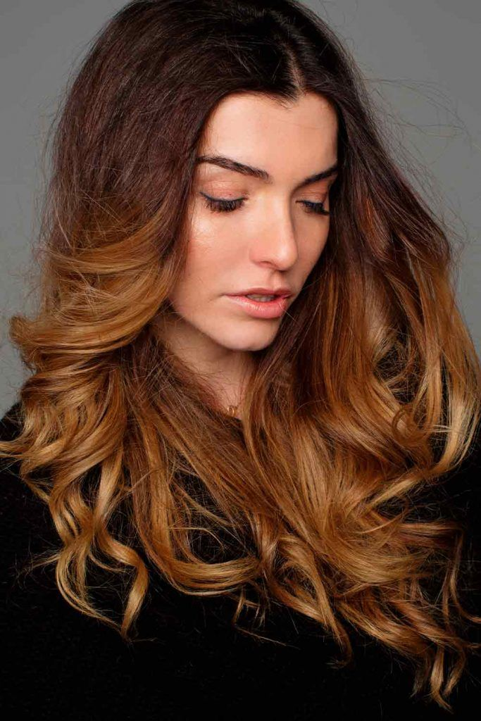 Brown Ombre For Long Hair #lovehairstyles #fallhaircolors #brownhair