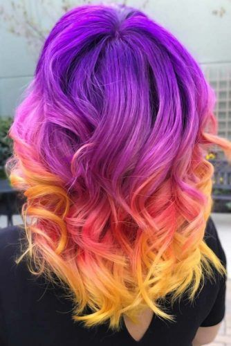 Yellow And Red Ombre Purple #ombre