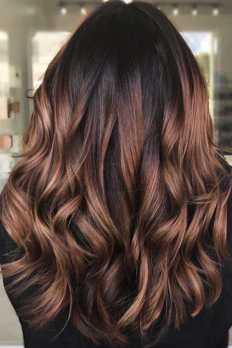Trendy Brown Ombre Variations Red Wood #ombre