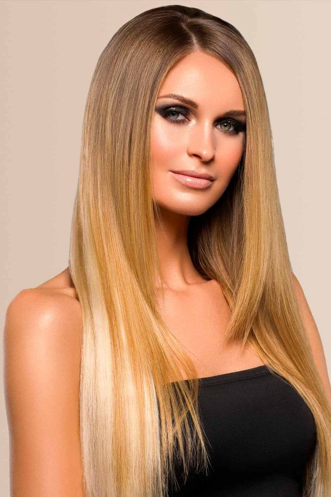 Long And Glossy Blonde Ombre Hair #lovehairstyles #fallhaircolors #glossyhair