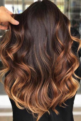 Ombre In Warm Tones Brown #ombre