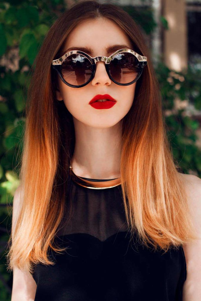 Chic Ombre In Warm Tones #lovehairstyles #fallhaircolors #ombrehair