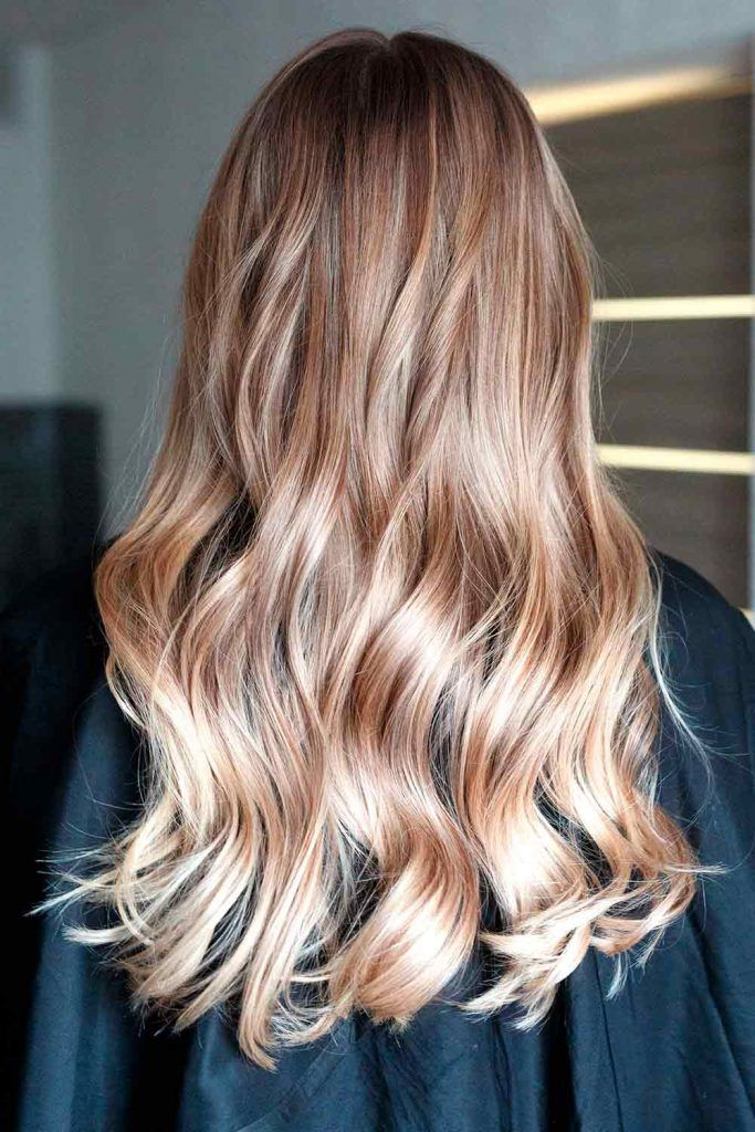 Blonde Ombre For Long Wavy Hair #lovehairstyles #fallhaircolors #longhairstyle