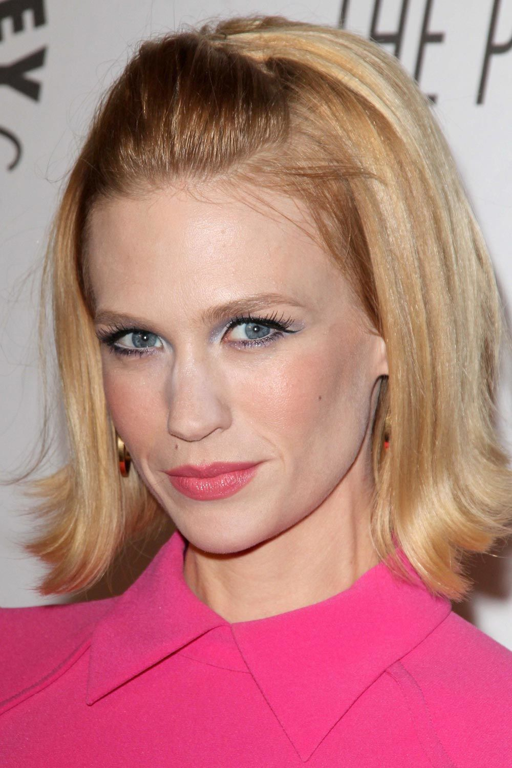 January Jones Short Half-Up Hairstyle