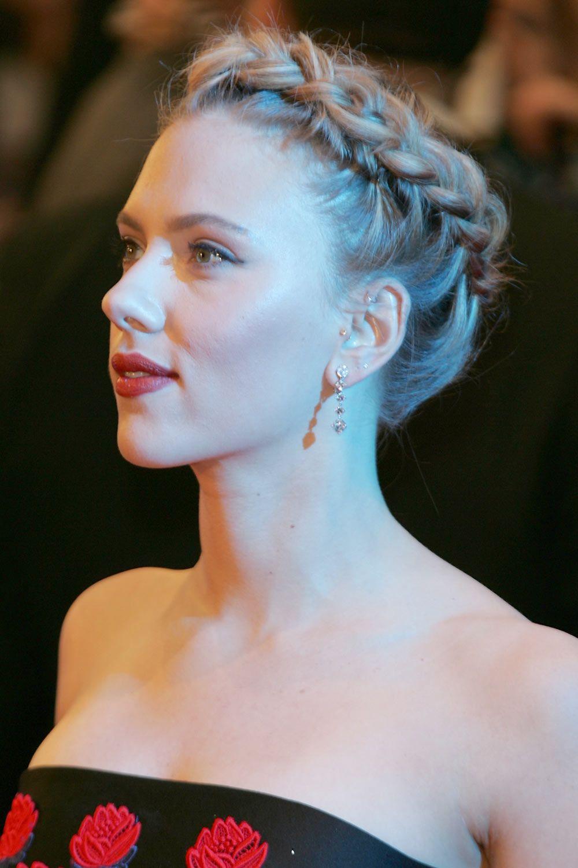 Braided Updo Scarlett Johansson