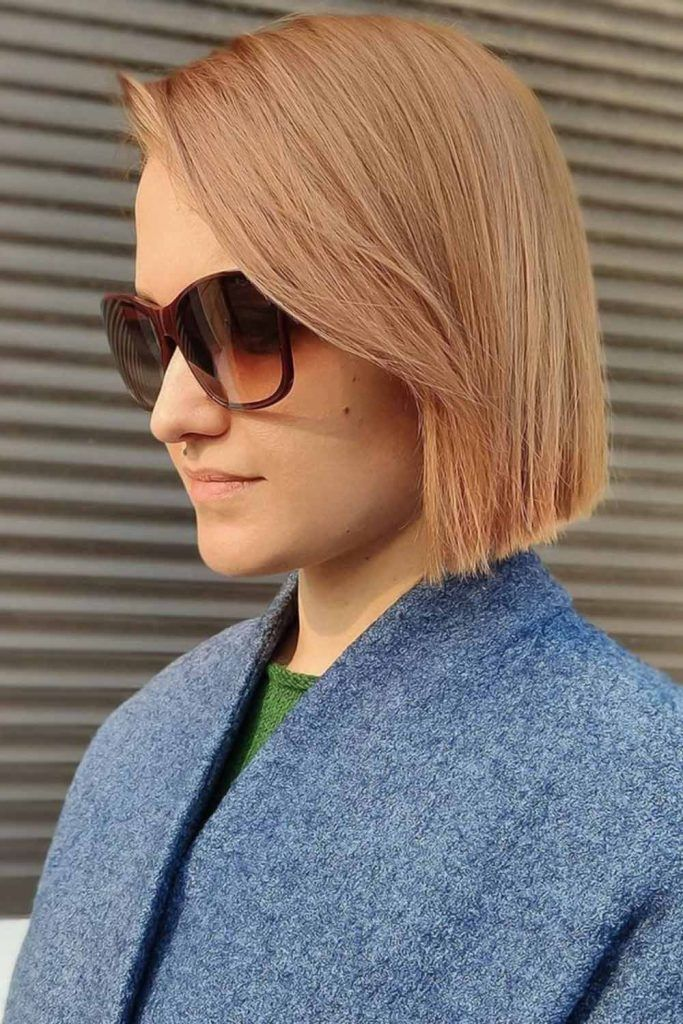 Long Side Bangs Blunt Bob #shorthaircuts #shorthairstyles #shorthair