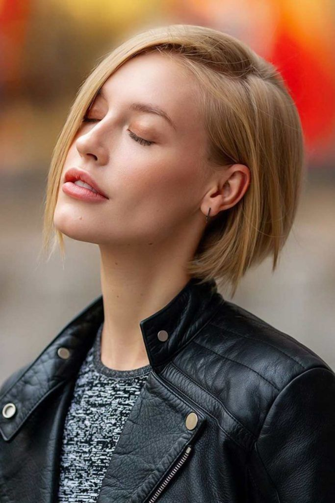 Layered Bob Style Blonde #shorthaircuts #shorthairstyles #shorthair