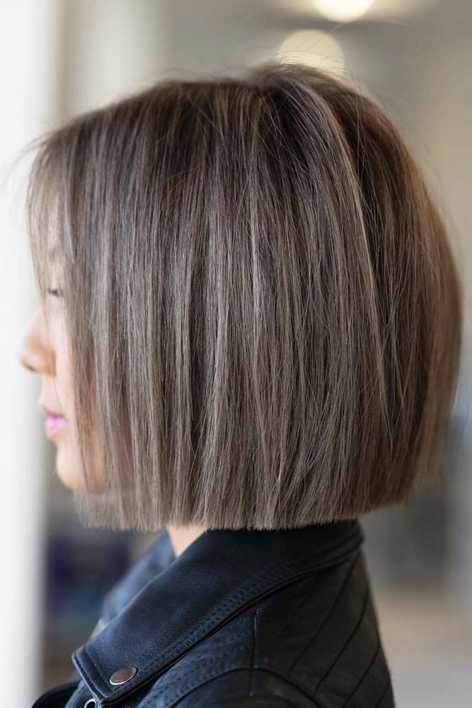 One Length Blunt Style #shorthaircuts #shorthairstyles #shorthair