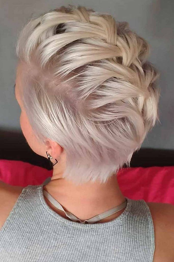Braided Mohawk For Short Hair #mohawk #pixie