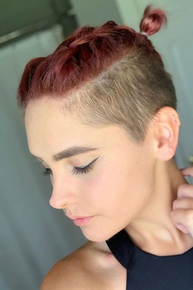 Braided Top Style With Short Sides #shorthaircuts #shorthairstyles #shorthair