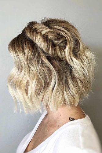Braided Short Hairstyles #shorthaircuts #shorthairstyles #shorthair #bobhaircut