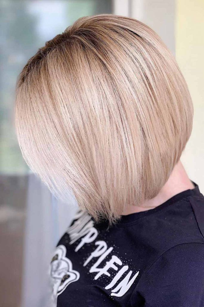 Best Short Hairstyles For Straight Bob Blonde #shorthaircuts #shorthairstyles #shorthair
