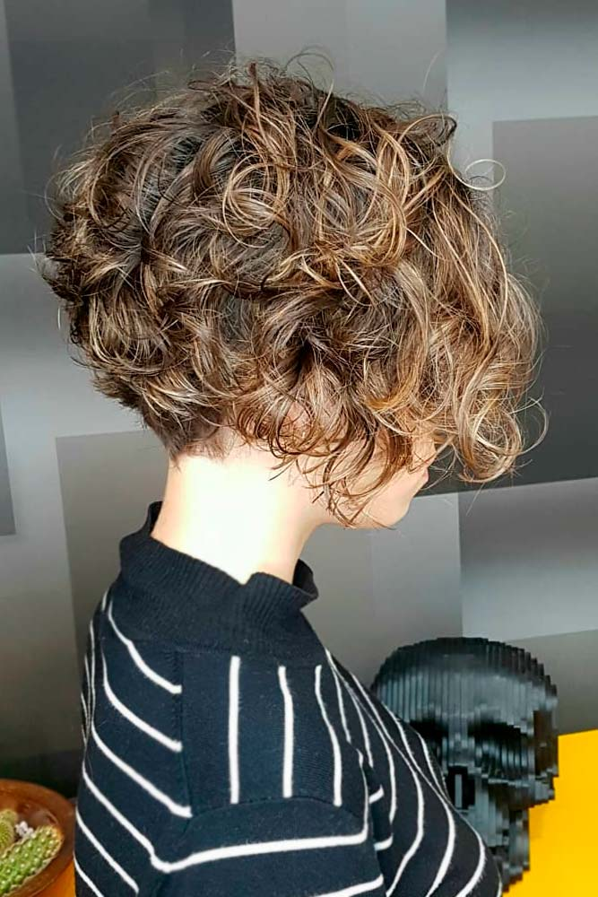 Stacked Short Hairstyle