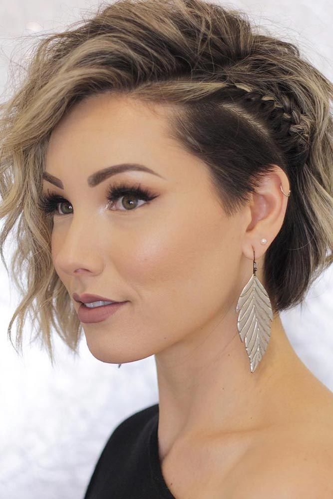 Tine Side Braid For Undercut Bob