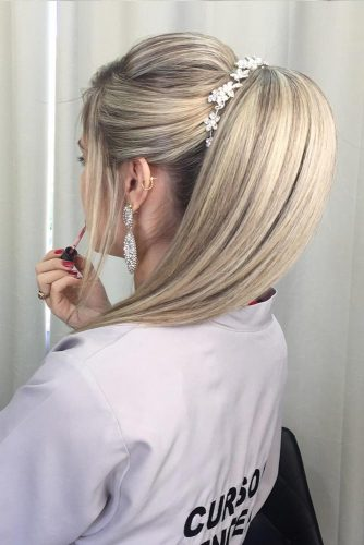 Elegant Ponytail with Bangs picture 3