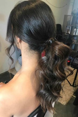 Elegant Ponytail with Bangs picture 1