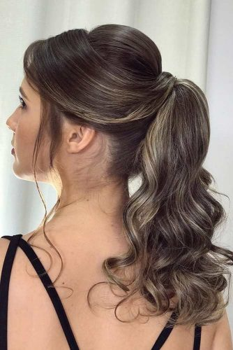 Elegant Ponytail with Bangs picture 2