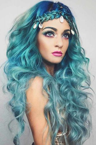 Mermaid Hairstyle With Braids #halloweenhairstyles #halloween #hairstyles #braids #longhair