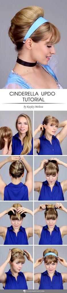 Easy Cinderella Updo For Halloween #halloweenhairstyles #halloween #hairstyles #tutorial #longhair