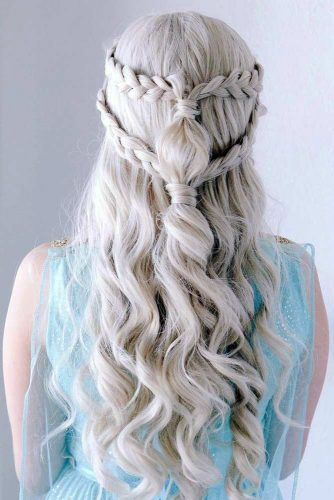 Daenerys Hairstyle From Game Of Thrones #halloweenhairstyles #halloween #hairstyles #longhair