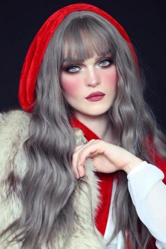 Red Riding Hood Long Waves #halloweenhairstyles #longhair